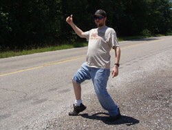 Bryan_hitchhiking